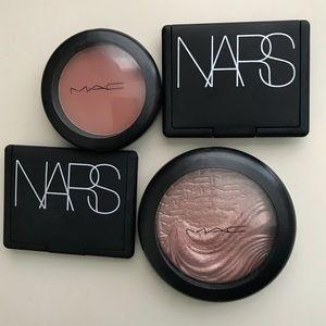 NARS - Orgasm ,Tajmahal.  Mac -Gingerly , Superb
